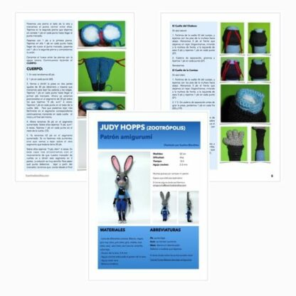 Patrón Judy Hopps PDF