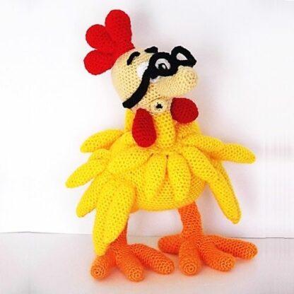 Patrón Mortadelo disfrazado de pollo