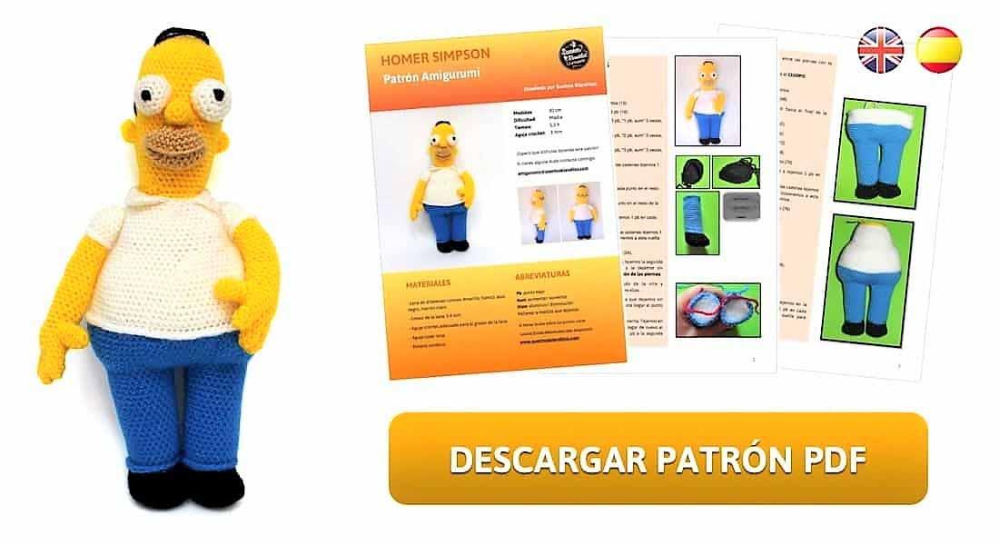 Patrón amigurumi Homer Simpson