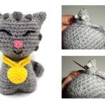 Cómo coser las diferentes partes de nuestro amigurumi + Patrón Gatito