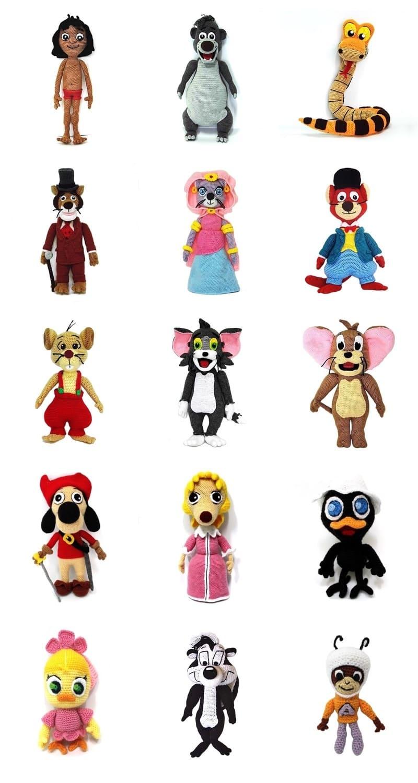 Personajes Amigurumi: 60 Patrones