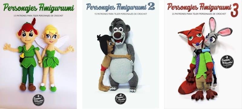 Personajes Amigurumi 1, 2 y 3: 45 Patrones para tejer personajes infantiles