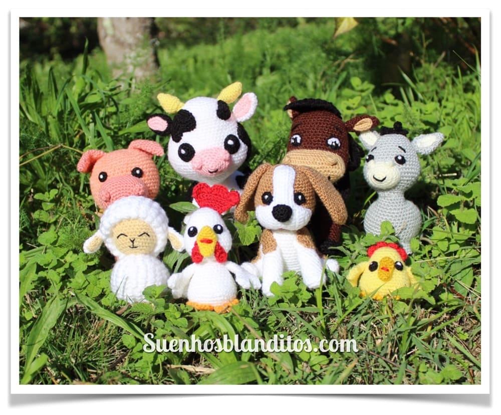 Amigurumis en la granja: 8 patrones de animales