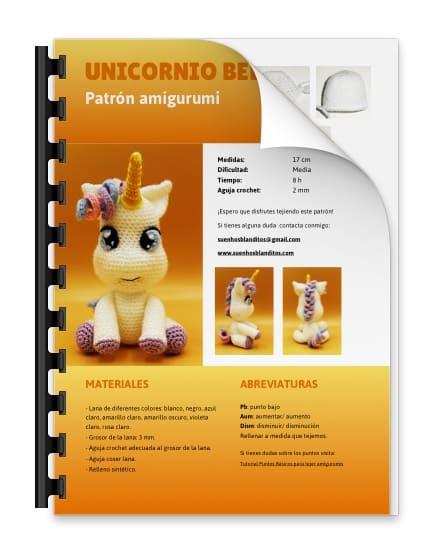 CROCHET PATTERN in English and Spanish - Mimi the Friendly Unicorn ... | 556x438