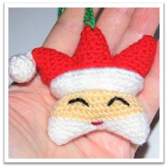 Patrón Estrella Santa Claus amigurumi