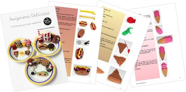 Amigurumis Deliciosos: 18 Patrones de comida